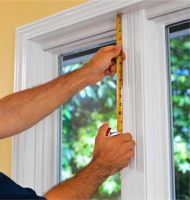 Measuring window for custom made blinds installation