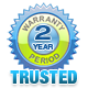 Two year warranty on products