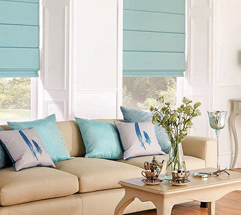 Add more style to a room with very little effort! Choose Roman blinds for a contemporary look